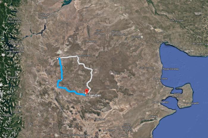 Reserva de Plata Gan Gan a Jacobacci - Maps