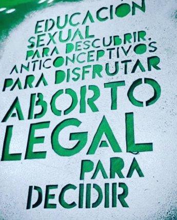 Stencil verde - Fte. Web
